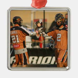 ROCHESTER, NY - JULY 23: Martin Cahill #21 and Christmas Ornament
