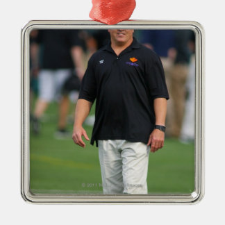 ROCHESTER, NY - JUNE 24: Gary Gait, assistant Christmas Ornament