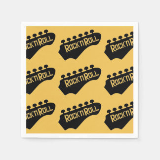 Rock and Roll Guitar Pattern Napkins Disposable Napkins