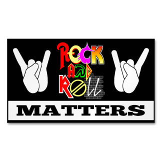 Rock and Roll Matters Business Magnet Magnetic Business Cards