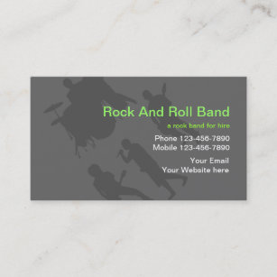 rock band business cards - Band Business Cards