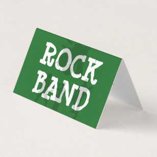 Rock band business cards zazzle nz rock band cool business card colourmoves