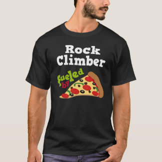 Rock Climber (Funny) Pizza T Shirt