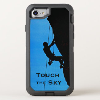 Rock Climber Silhouette Touch The Sky OtterBox OtterBox Defender iPhone 8/7 Case