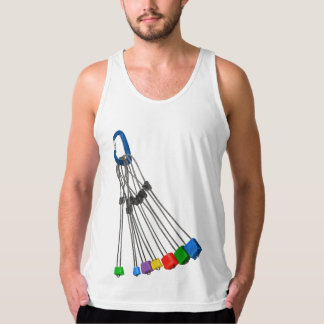 Rock Climbing Wires and Carabiner Singlet