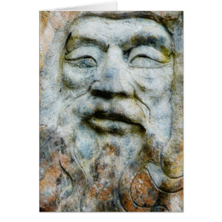 Rock Face - Man Carved in Stone Card