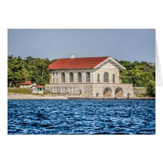 Rock Island Wisconsin Boat House Notecard