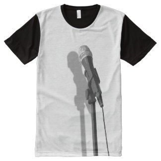 Rock n' Roll Band Vocal Microphone T-Shirt All-Over Print T-Shirt