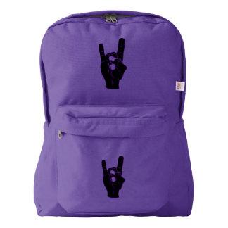 Rock n Roll Devil Horns Backpack