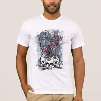 Rock n Roll, Guitar Skulls, Men's T-Shirt