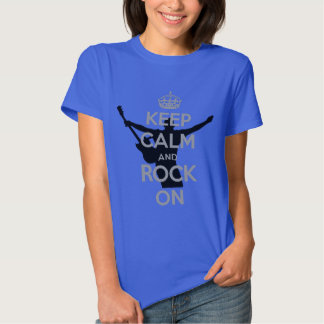 Rock n Roll Theme Keep Calm and Rock On Tee Shirt