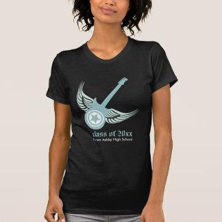 Rock on! Custom Guitar Graduation T-shirt (blue)