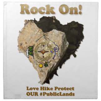ROCK ON! Love Hike Protect Our Public Lands Napkin