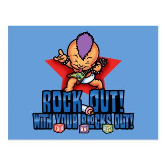 Rock Out Blocks Out Postcard