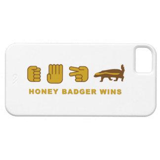 rock paper scissors honey badger wins iphone5 case iPhone 5 cases