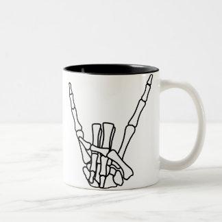 Rock, peace Two-Tone mug