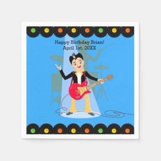 Rock Star Boy birthday party Disposable Serviette