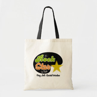 Rock Star By Night - Day Job Social Worker Tote Bag