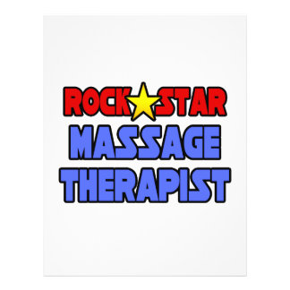 Rock Star Massage Therapist Flyer