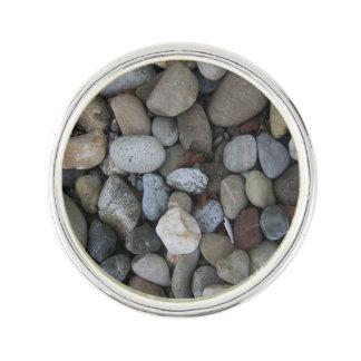 Rock Texture Template Lapel Pin