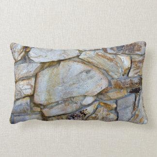 Rock Wall Texture Photo on Pilllow Lumbar Pillow