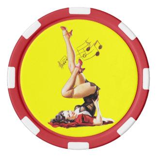 Rockabilly Goddess II Poker Chips