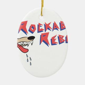 Rockabilly Rebel Ceramic Oval Decoration