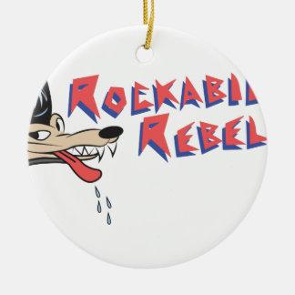 Rockabilly Rebel Round Ceramic Decoration