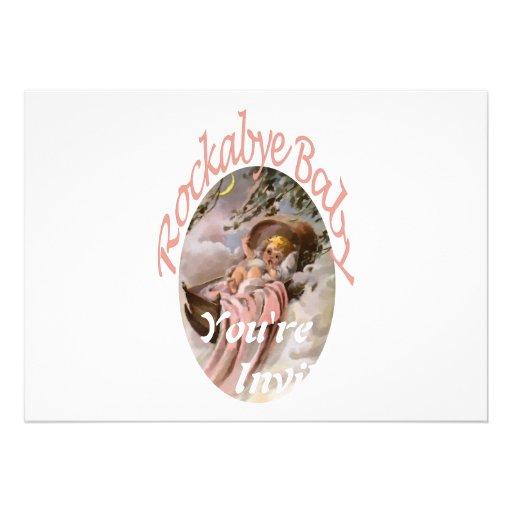 RockaBye Baby Lullaby Watercolor Custom Invites