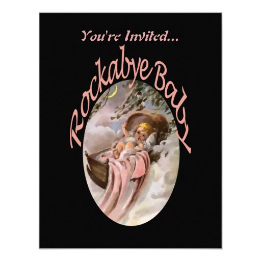 RockaBye Baby Lullaby Watercolor Announcement