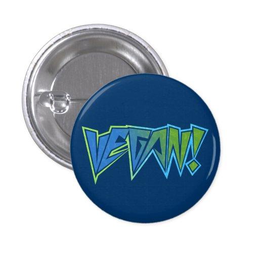 Rocker Blue Vegan Button