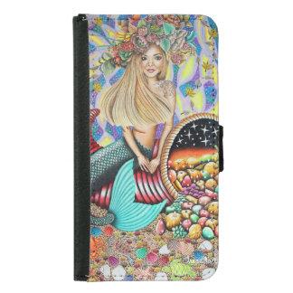 Rocker Mermaid And The Enchanted Cornucopia Samsung Galaxy S5 Wallet Case