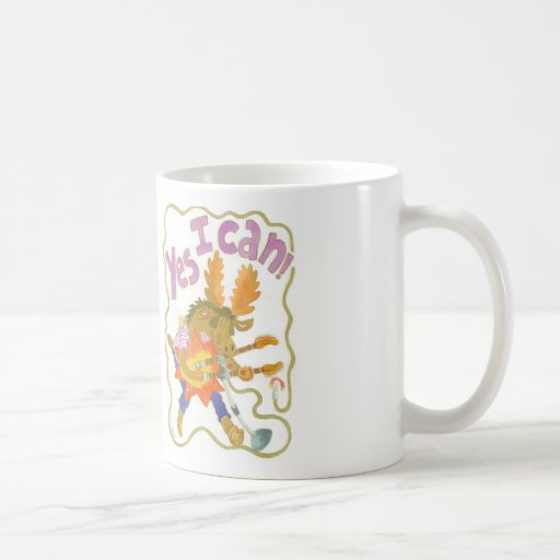"""rocker moose sings """"YES I CAN!"""" Mug"""
