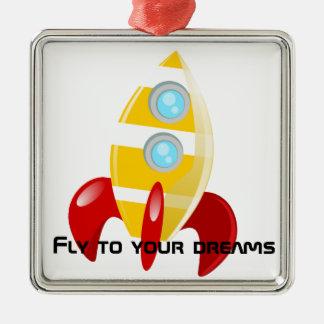 Rocket Christmas Ornament