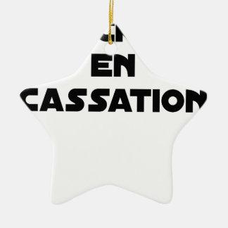 ROCKET IN CASSATION - Word games - François City Christmas Ornament