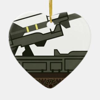Rocket launcher christmas ornament