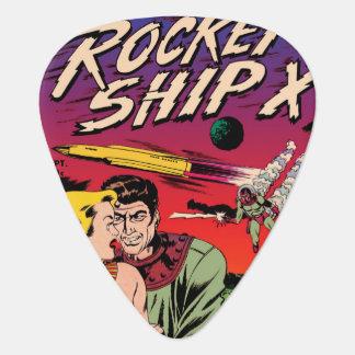 Rocket Ship X Guitar Pick