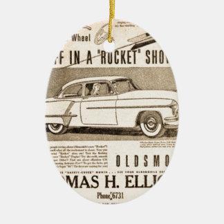 rocket to car AD Christmas Ornament