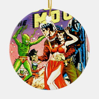 Rocket to the Moon Christmas Ornament