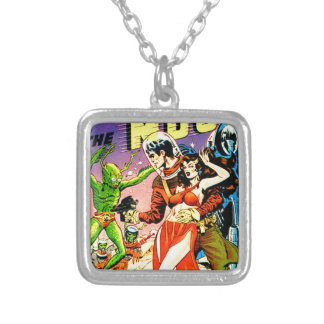 Rocket to the Moon Silver Plated Necklace