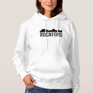 Rockford Illinois City Skyline Hoodie