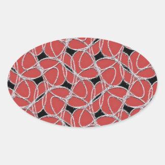 Rockin' Oval Sticker