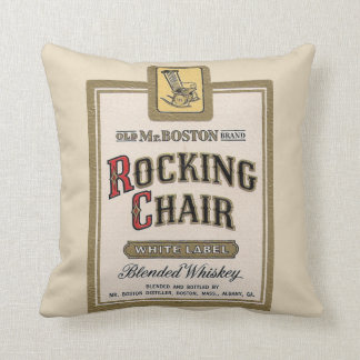 Rocking Chair Whiskey bar gameroom vintage pillow