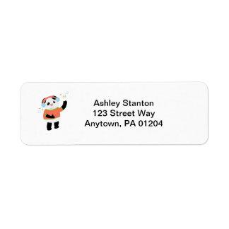 Rocking Panda Bear Avery Label