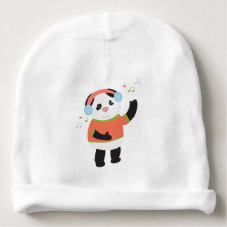 Rocking Panda Bear Baby Beanie