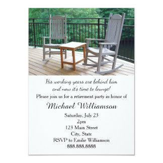 Rocking Porch Chairs Retirement Party 11 Cm X 16 Cm Invitation Card