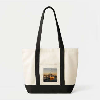 Rockport, Texas harbor at sunset Tote Bag