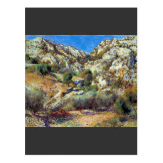 Rocks at L'Estage by Pierre Renoir Postcard