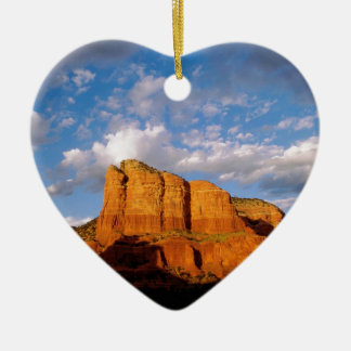 Rocks Courthouse Sedona Arizona Ceramic Heart Decoration