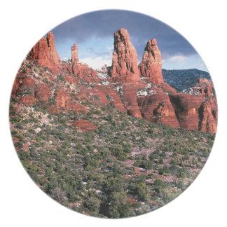 Rocks Red Spires Sedona Arizona Dinner Plate
